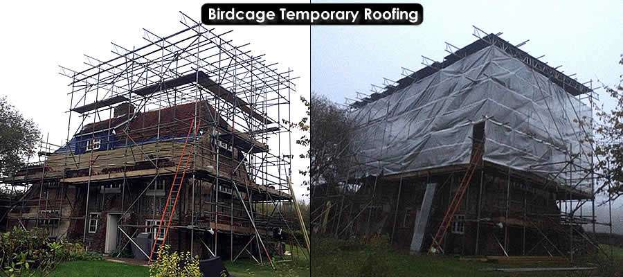 Temporary Roof Scaffold Hire Birdcage Scaffold